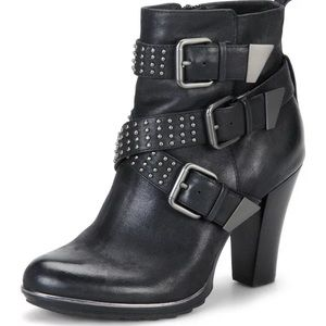 Sofft Moto Whitney Leather High Heeled Boot Bootie